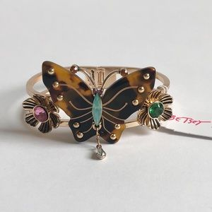Betsey Johnson Tortifly Butterfly Hinged Bangle